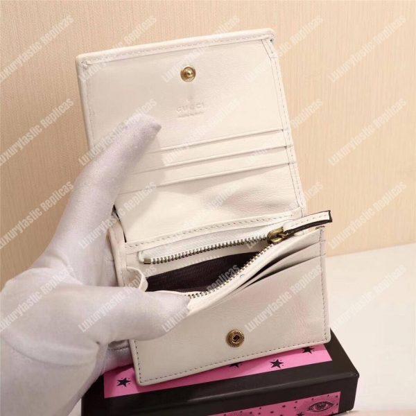 Gucci GG Marmont Cicada Stud Card Case Wallet