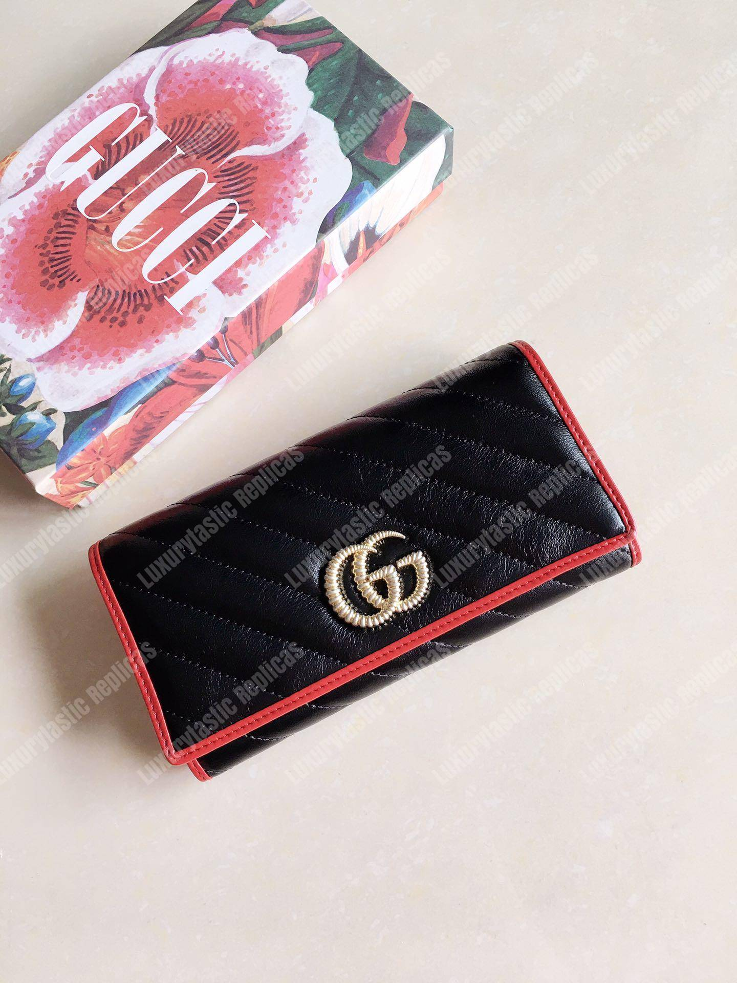 Gucci - GG Marmont Matelassé Wallet Black | Luxury Bags